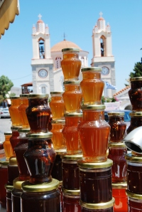 Honey from the village of Siana in the Greek mountains